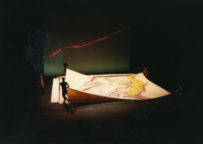 Creation of the sets of « Sin Arrimo y con Arrimo », 1996