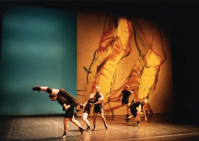 Creation of the sets for « Sin Arrimo y con Arrimo », 1996