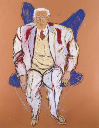 Raymond Lévy en costume clair, 1990