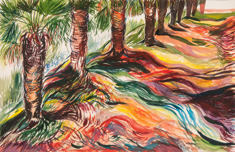 Allée de palmiers, 2017
