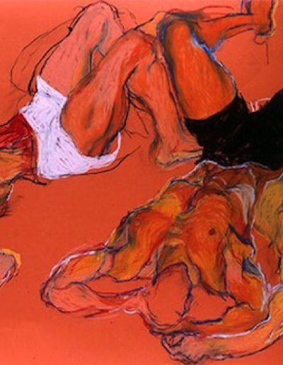 Trois Hommes renversés, 1991